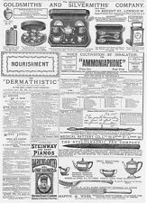 Victorian Adverts; Goldsmiths, Stylographic Pen Co - Antique Print 1886