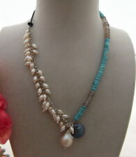 Excellent! Pearl&Turquoise&Agate Necklace