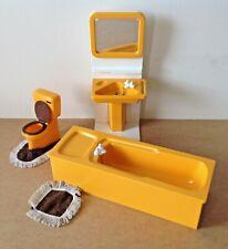 Vintage Pedigree Sindy Bathroom set/ Suite Bath Sink Toilet 1970 /80's