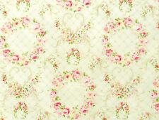 Stoffe Lecien Rococo Sweet Rosenstoffe rosa creme Rosen Rosenkränze 30x112 BW