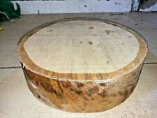 270X270X75MM LOT 802 SPALTED SYCAMORE WOODTURNING TIMBER BLANK