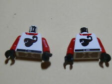 Lego 2 torses blancs / 2 white torsos from minifig set 6619 6602 6713