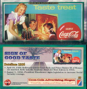 RARA ORIGINAL CARD U.S.A*SIGN OF GOOD TASTE - COCA COLA N.55*-NEW,PERFECT-N.710