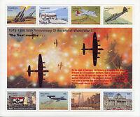 Maldives 1995 MNH WWII WW2 VE Day End World War II 8v M/S Aviation Stamps