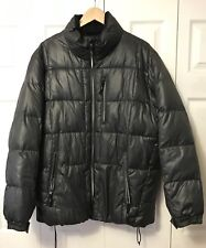 Calvin Klein Men's Size L  Large Puffer Jacket Winter Coat Dark Gray Charcoal