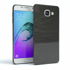 Schutz Hülle für Samsung Galaxy A5 (2016) Brushed Cover Handy Case Anthrazit