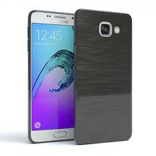 Schutz Hülle für Samsung Galaxy A5 (2016) Brushed Cover Handy Case Anthrazit