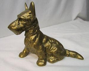 Scottie Solid Brass Bank - Scottish Terrier Dog Figurine