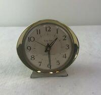 Vintage MCM Westclox Baby Ben Clock White Gold Windup Alarm Nightstand
