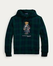 NWT Men's Polo Ralph Lauren Polo Bear Tartan Fleece Hoodie MSRP $188