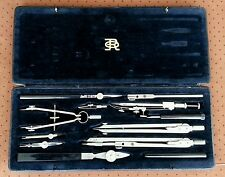 TECHNICAL DRAWING SET RICHTER & CO 1st quality GERMAN DDR COMPASS CASED SET