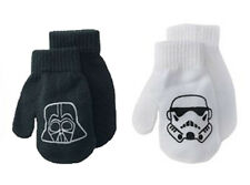 Disney Star Wars 2 Pack Toddler Black/White Mittens One Size No Tags