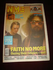 NME 1992 JUNE 20 FAITH NO MORE PRINCE IRON MAIDEN U2 FAMILY CAT HOUSE PREFAB