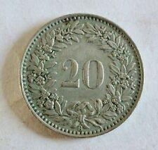 Helvetia / Schweiz - 20 Rappen 1943 B - seltenes Umlaufstück - vz erh. (1541