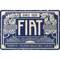Fiat  Logo blau Blechschild Metall Schild 30 cm Nostalgie Metal Shield