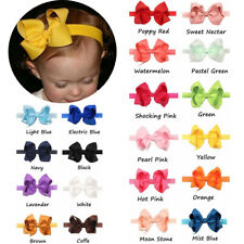 20pcs Color baby Girls Ribbon Hair Bows Band Headband for Infant Newborn Toddler