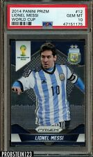 2014 Panini Prizm Soccer World Cup #12 Lionel Messi Argentina PSA 10 GEM MINT