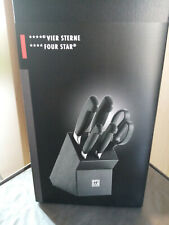 Messerblock 6 tlg. schwarz  **** Vier Sterne FOUR STARS Zwilling Made in Germany
