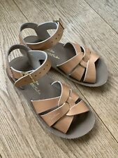 Girl's Saltwater Sandals in Rose Gold Size 12