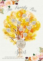 Personalised Family Tree A4 Sign, Print, Gift, Birthday, Anniversary, Wedding