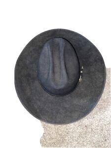 Resistol Black 4X Bison Felt Cowboy Western Hat 7 1/2 The Spotter