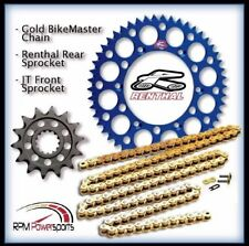 Renthal Blue Sprocket and Gold Chain Kit Yamaha YZ250f YZ 250f 01-15 13-50T