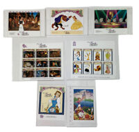 International Collectors Society Beauty And  The Beast 7 Postage Stamps COA's