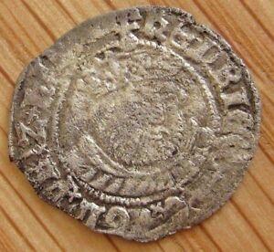 1544-47 HENRY VIII  HALF GROAT CANTERBURY no mint marks