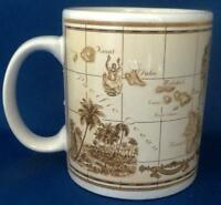 Hawaii Hawaiian Islands Coffee Tea Mug Cup Ceramic Heritage Illustrated Map