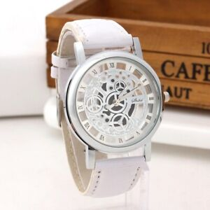 Watches Men Luxury Stainless Steel Quartz Military Leather Sport Leather Band