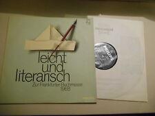 LP VA easily and literary-Frankf Book Fair 1968 (12 Song) Philips Neuss