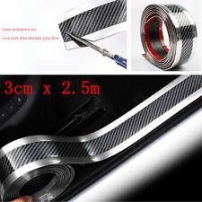 Car Side Skirt Door Sill Edge Protection Anti-Scratch Strip Silver PVC 3cmx2.5M