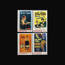Guyana, MNH, 1992, Movie Posters on stamps, Laurel & Hardy, Arbuckle, ETI-9