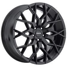4-NEW Forte F71 Mistress 18x8 5x108/5x114.3 +35mm Gloss Black Wheels Rims