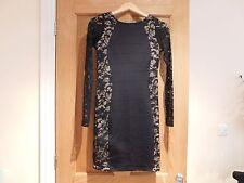 New Womens ladies girls strechy black & nude lace dress 8-10 LIPSY 23.99p