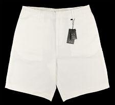Men's ARMANI EXCHANGE A/E White Linen Cotton Bermuda Shorts 36 NWT NEW NiCe!