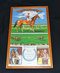 A Tribute To Phar Lap Collectable Tea Towel 1986 Framed