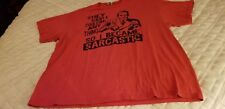 """""""THEY SAID I COULD BE ANYTHING SO I CAME SARCASTIC """" RED Graphic Tee Novelty"""