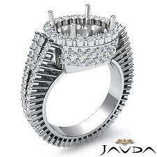 Diamond Engagement Ring Round Semi Mount 18k white Gold Halo Prong Set 2.5Ct