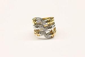 SERKOS Yellow Gold, White Gold, Rose Gold 18K and Diamond Ring