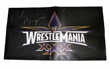 WWE WRESTLEMANIA 30 DANIEL BRYAN SIGNED BANNER WITH COA