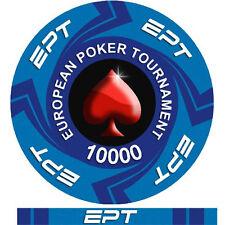 Fiches Ceramica EPT European Poker Tour Valore 10000 - Bordo Allineato