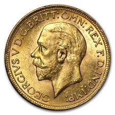 1925-1932 South Africa Gold Sovereign George V BU - SKU #29871