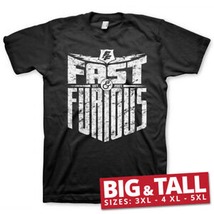 Officially Licensed Fast & Furious- Est. 2007 BIG&TALL 3XL,4XL,5XL Men's T-Shirt