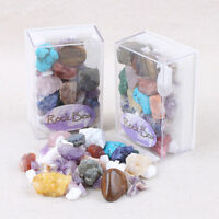 1Box Natural Crystal Mixed Mineral Specimen Students Geography Early Education