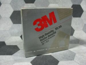 """3M High Density DS HD Diskettes 5-1/4"""" Box 10 1994 NEW Sealed"""