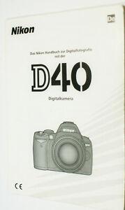 Anleitung für Nikon D40