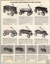 1962 PAPER AD Western Flyer Town & Country Chief Super Deluxe Coaster Wagon