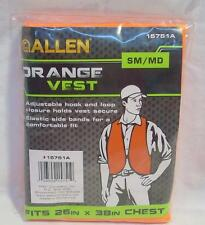 "Allen Blaze Orange Safety Hunting Shooting Vest #15751A SM/MD 26""-38"" Chest"