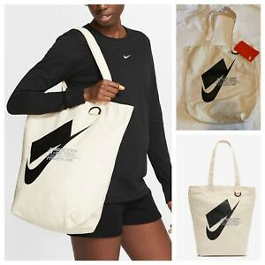 NWT Nike Sportswear Unisex Heritage Tote Bag  School Natural  BA6027-130